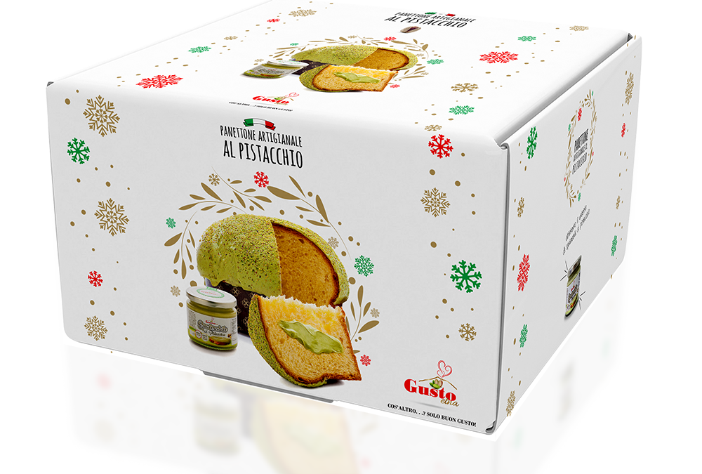 Panettone artigianale e spalmabile al pistacchio